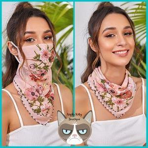 Boho Floral Mask Scarf